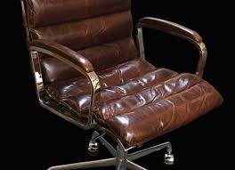 restoration hardware oviedo cocoa leather office chair 3992