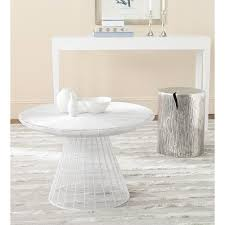 wire coffee table. Safavieh Reginald White Coffee Table Wire