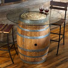 reversible reclaimed wine barrel. Reclaimed Wine Barrel Pub Table With Glass Top Reversible
