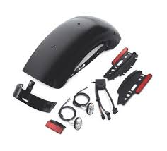vivid black chopped rear fender bodywork official harley