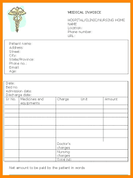 Resume Templates Medical Invoice Template Microsoft Word Format In