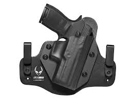leather hybrid sig p320 compact carry holster