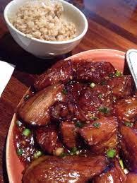 stir fried eggplants with brown rice