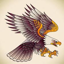 Orel Staré školy Tetování Stock Vektor Artefy 41002773