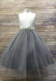 Rhinestone <b>Belt Elegant</b> Satin and Tulle <b>Flower Girl</b> Dress | Etsy