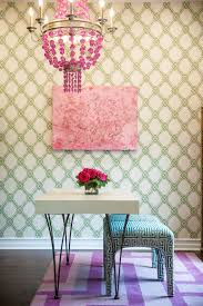 woodlands of college station with transitional home office also chandelier color custom green and pink pop of color purple rug wall art wallpaper white desk