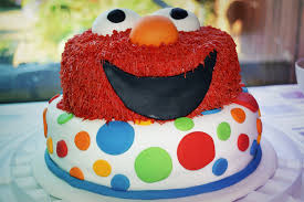 Making An Elmo Birthday Cake Glasgow With Kids