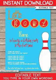 Free Bowling Invitations Template Stanley Tretick