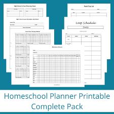 Homeschool Planner Printable Complete Pack Janelle Knutson
