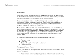 tesco recruitment and selection gcse business studies marked  document image preview