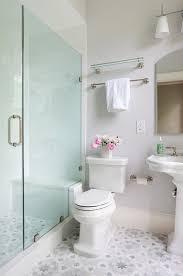 gray and blue mosaic bathroom floor