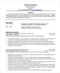 Sample Chronological Resume Format