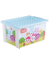"""<b>Ящик для</b> хранения игрушек """"Малышарики"""", 57л <b>Little Angel</b> ..."""