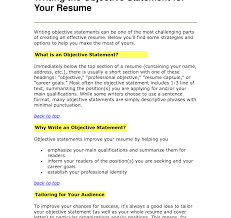 What To Put Under Objective On A Resume Goodjectives To Write On Resume What Underjective Your As An For 20