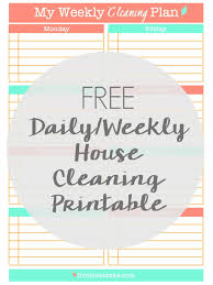 House Cleaning Template Free Free Daily Weekly Cleaning Schedule Printable