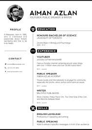 aiman azlan on twitter experimenting with a new style of resume .