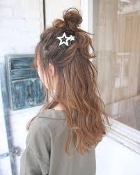 ハーフアップお団子アレンジ Hair In 2019 ガーリー ヘア ヘア