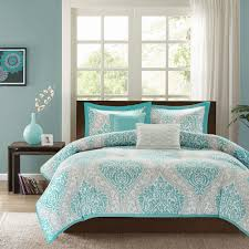 blue bedroom sets for girls. Teal Blue Grey Damask Scroll Print Teen Girl Bedding Twin Full Throughout  Comforter Sets Bedroom For Girls M