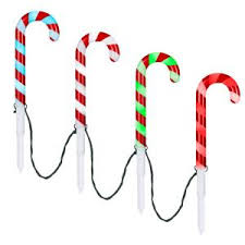 LightShow 18 in. <b>Christmas</b> ColorChanging Pathway Stakes Candy ...