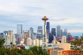 Seattle Cityscape Seattle Skyline And Sunset Kevin Amanda