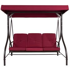 three seater swing seats outdoor furniture. converting outdoor swing canopy hammock seats 3 patio deck furniture burgundy - walmart.com three seater