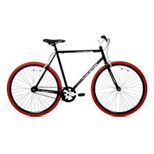 kent thruster 700c men s fixie bike black red walmart com