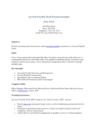 Brilliant Ideas Of Accounts Payable Clerk Resume About Bookstore