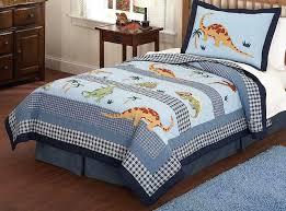boys dinosaur bedding dinosaur boys bedding in full queen or twin quilt sets in blue
