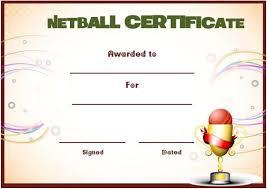 Netball Certificate Template Netball Award Certificate Template
