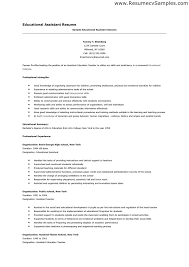 ... 20+ Effective Assistant Educator Resume Samples - Resume Template For Educational  Assistant Position ...