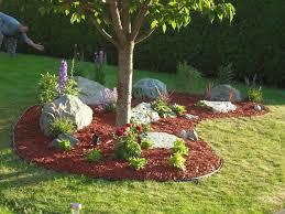 custom landscaping ideas around trees