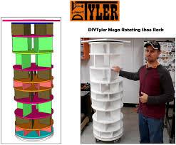 mega rotating shoe rack plans
