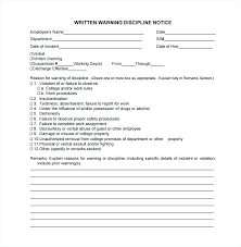 New Employee Warning Letters Template Formal Letter Sample