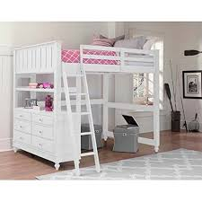 full size bunk bed with desk. NE Kids Lake House Full Loft Bed With Desk In White Size Bunk P
