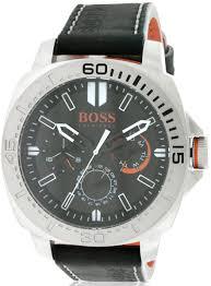 hugo boss boss orange leather men s watch 1512870 watchtag com hugo boss orange sao paulo leather men s watch 1513298