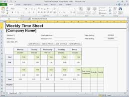 Excel Weekly Timesheet Template Excel Timesheet Template With Formulas Readleaf Document