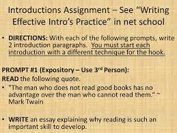 good introductions hooks the reader make me excited to your  8 introductions assignment