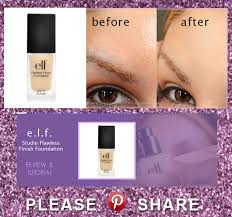 Elf Studio Flawless Finish Foundation Review And Tutorial