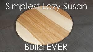 EASY NO BEARING Lazy Susan Build