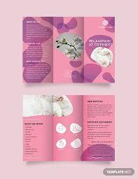 Tri Fold Samples 21 Spa Brochures In Illustrator Indesign Ms Word