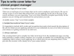 Cover Letter Project Manager Clinical Project Manager Cover Resume