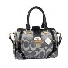 Coach Lock In Monogram Medium Grey Luggage Bags Outlet Online