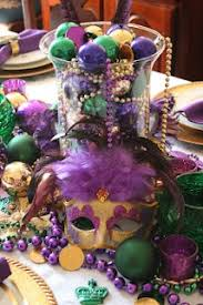 Table Decorations For Masquerade Ball Mardi Gras Tablescapes and Decor with Free Printables and DIY 89