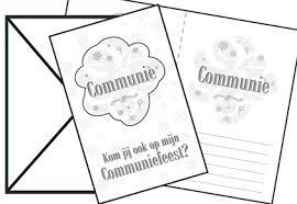 Communie Uitnodigingen Wit 8 Stuks