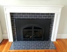 brilliant surround subway tile fireplaces fireplace surround with glass within vivacious black in subway tile fireplace surround m