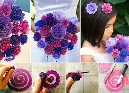 Paper Flower Bouquet For Wedding Making Paper Flower Bouquet Magdalene Project Org
