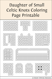 Printable Celtic Knot Designs Daughter Of Small Celtic Knots Coloring Printable Celtic