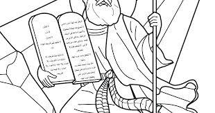 10 Commandments Coloring Pages Print Jokingartcom 10 Commandments