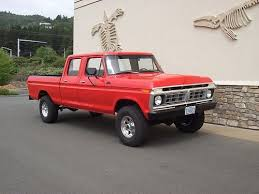 1977 ford f 250 crew cab 4x4 red vine 460 rebuilt short bed