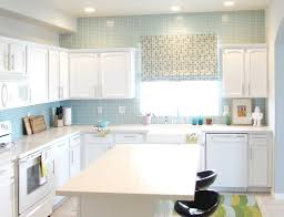 White Cabinet And Frosted Cabinet Doors Kitchen Backsplash Ideas For